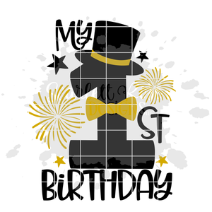 My 1st Birthday - Boy Birthday SVG
