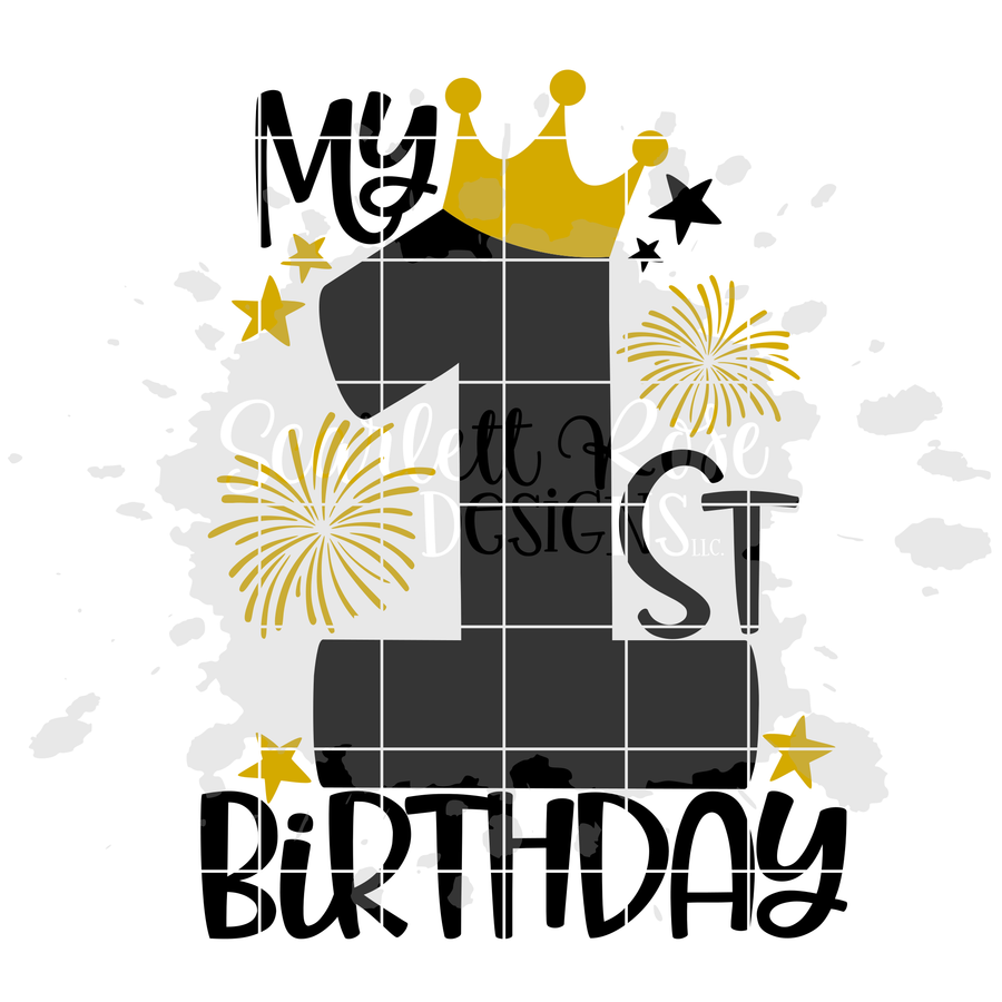 My 1st Birthday - Girl Birthday SVG
