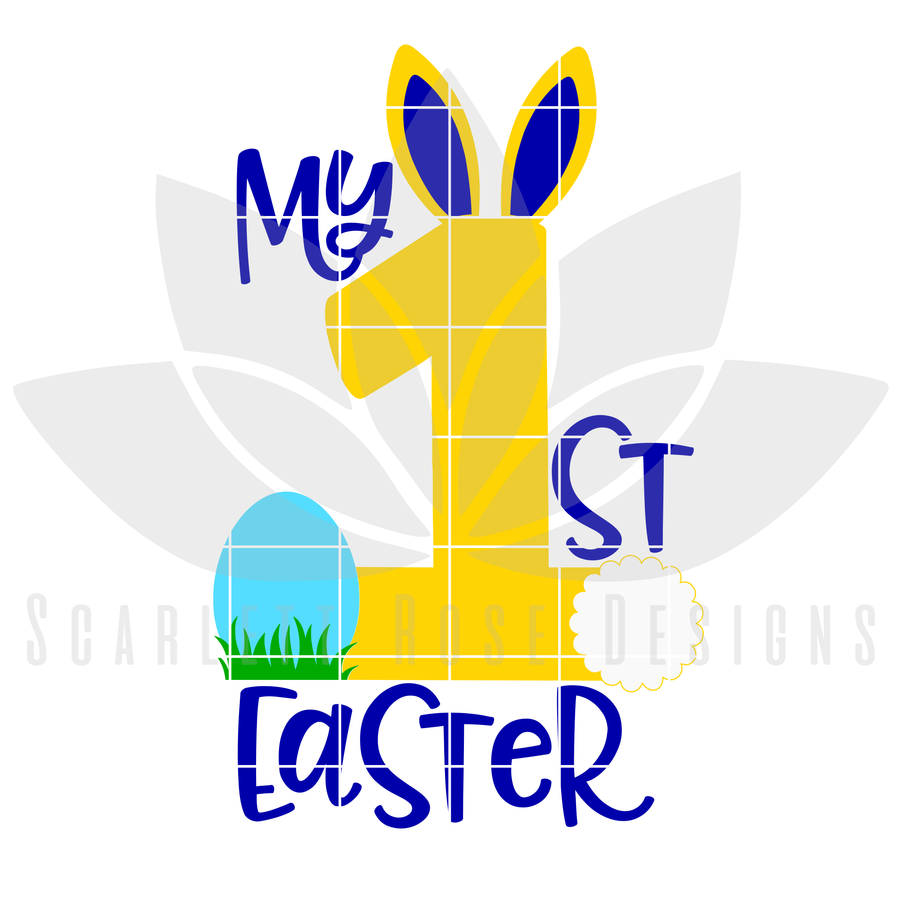 My First Easter, Easter Bunny SVG, DXF cut file