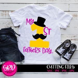 My First Fathers Day, SVG, DXF cut file