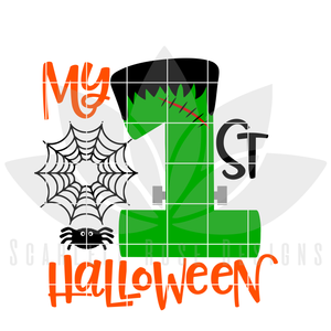 My First Halloween SVG - Frankenstein