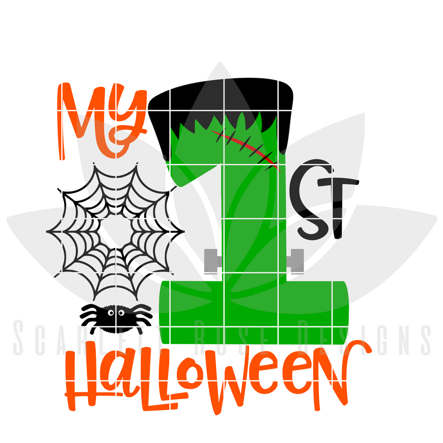 My First Halloween SVG, DXF cut file