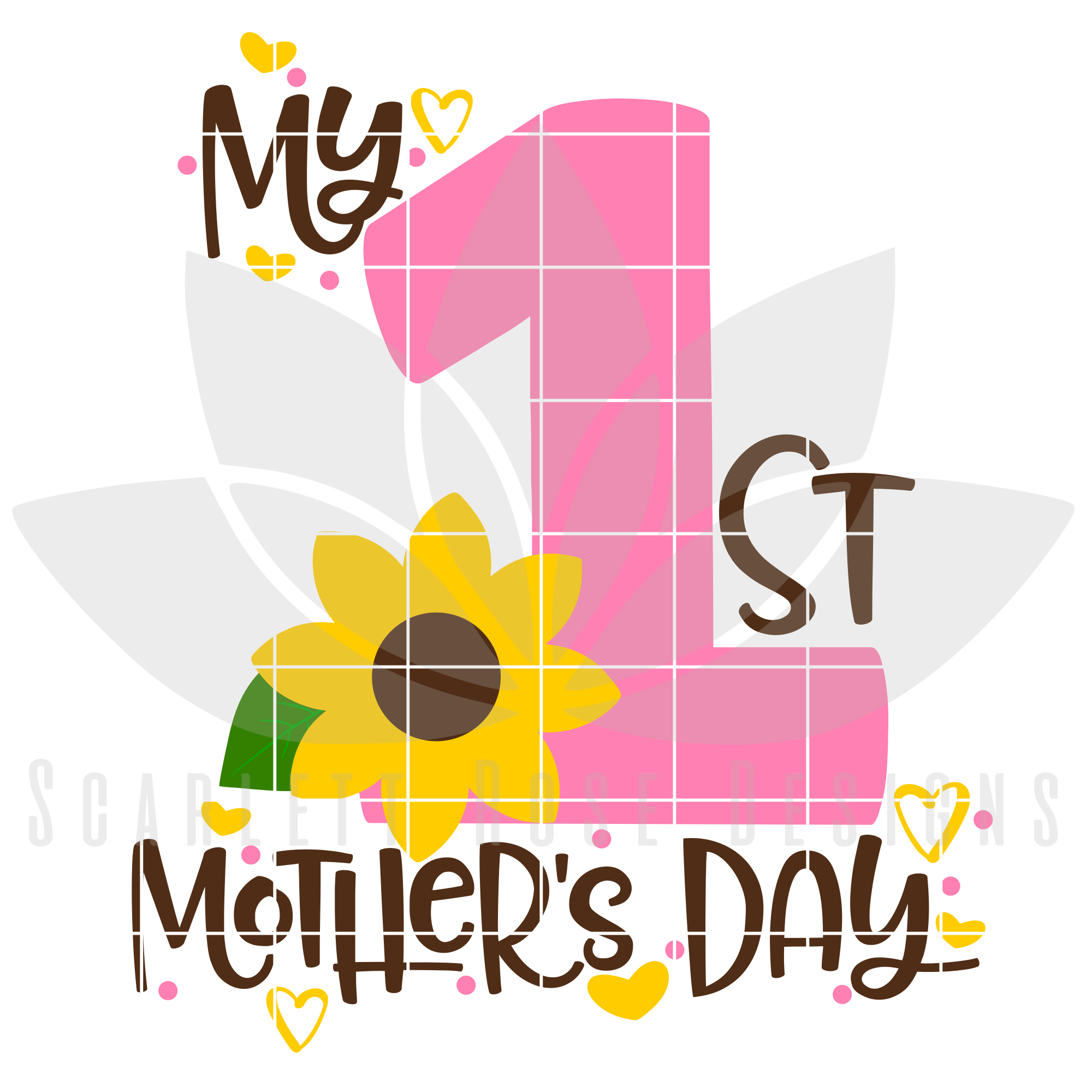 Free Wishing you a day of minimal messes and maximum snuggles. My First Mothers Day Svg Dxf Cut File Scarlett Rose Designs SVG, PNG, EPS, DXF File