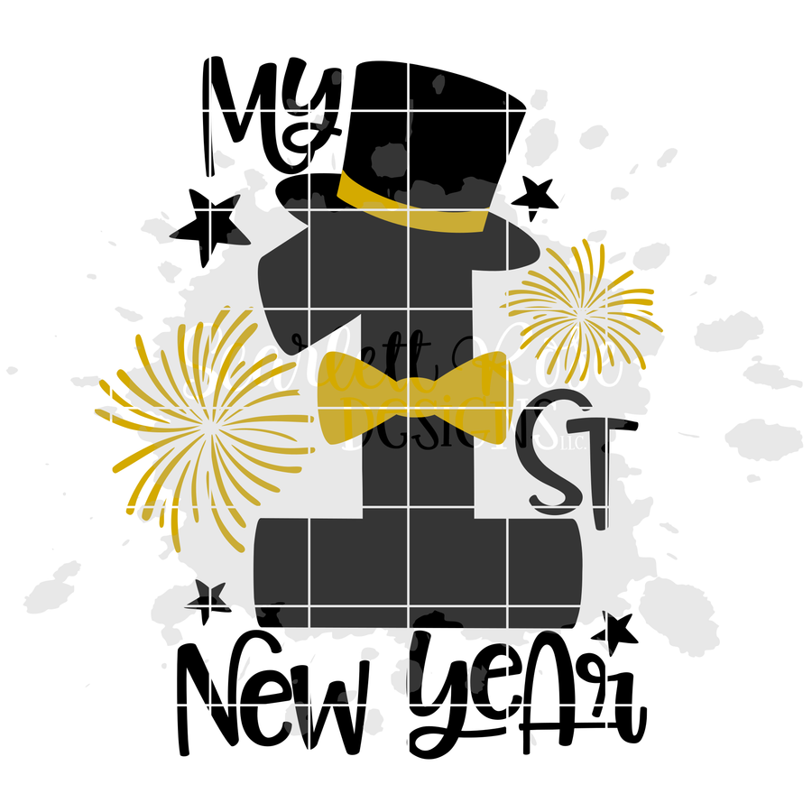 My First New Years SVG - Boy New Year's SVG