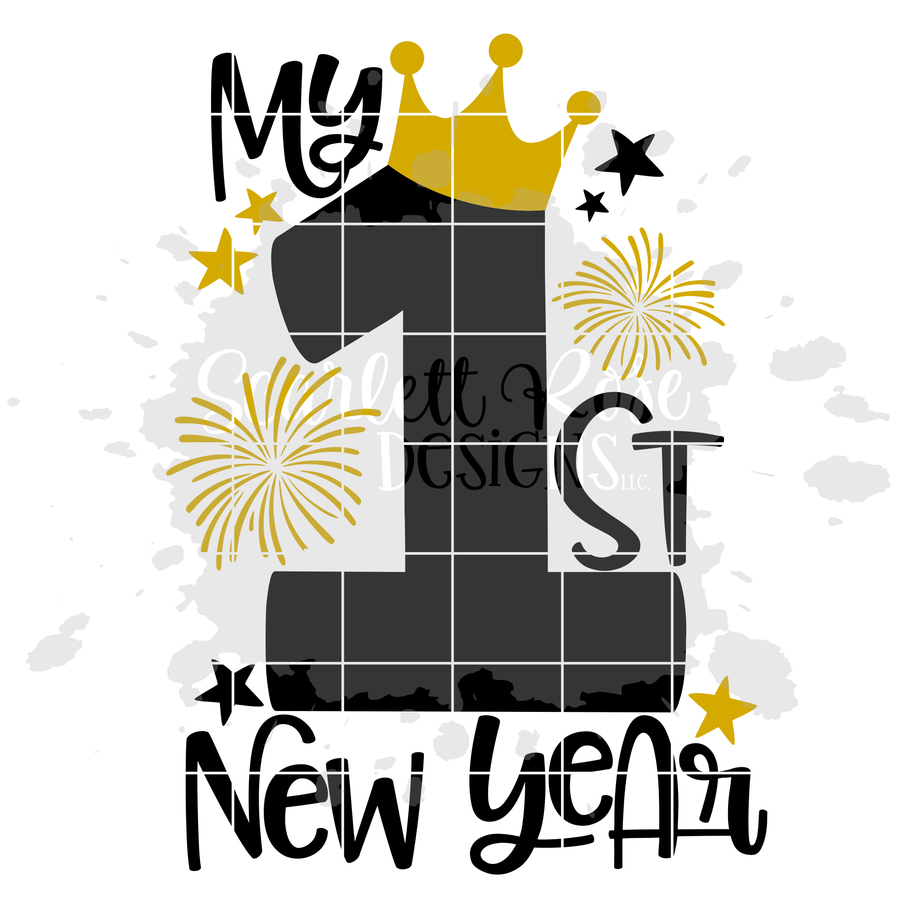 My First New Year's SVG - Girl New Year's SVG