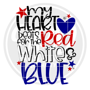 My Heart Beats for the Red White and Blue SVG