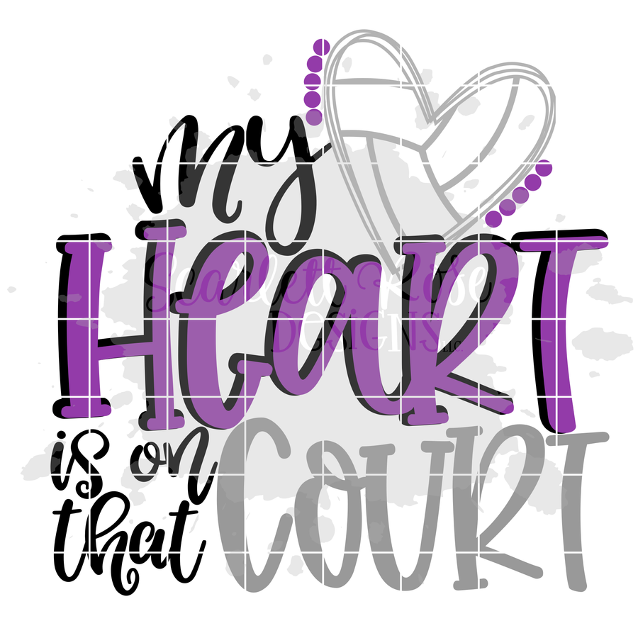 My Heart is on that Court - Volleyball SVG