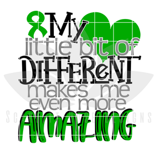 My Little Bit of Different Makes Me Even More Amazing SVG - Cerebral Palsy