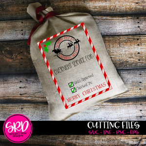 Christmas Bag, North Pole Delivery SVG
