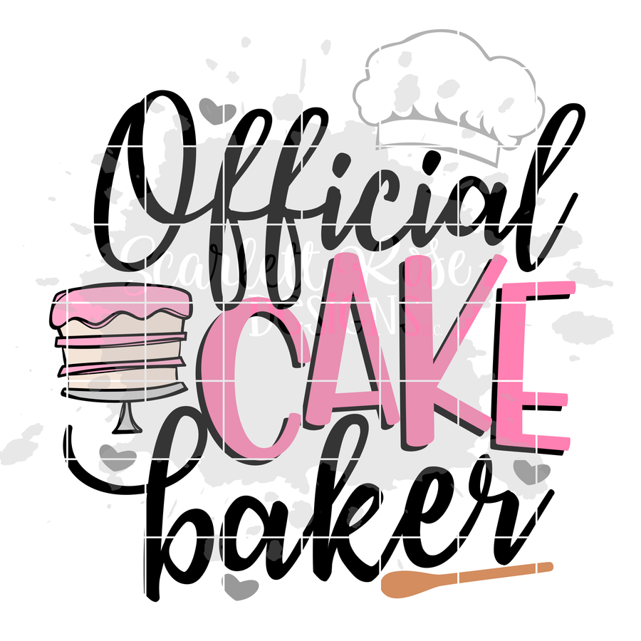 Official Cake Baker - Tester SVG