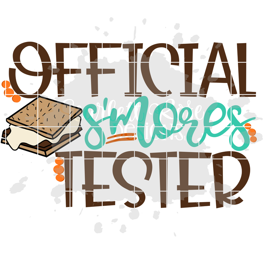 Official S'mores Tester SVG - Boy