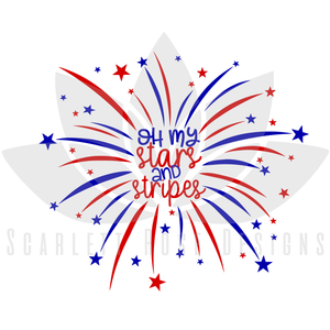 Oh my Stars and Stripes SVG cut file, Fourth of July SVG, EPS, PNG