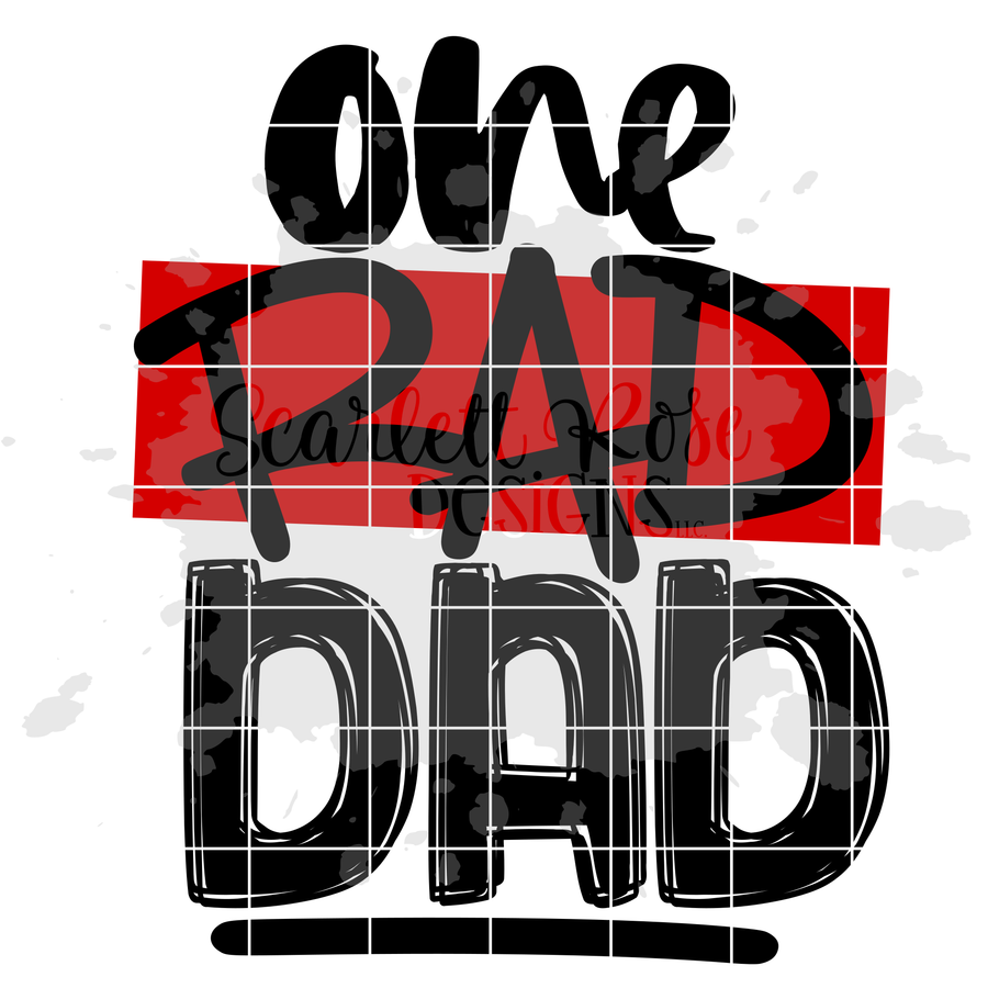 One Rad Dad SVG