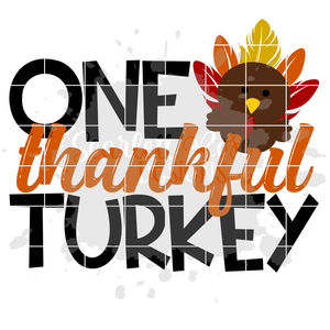 One Thankful Turkey SVG