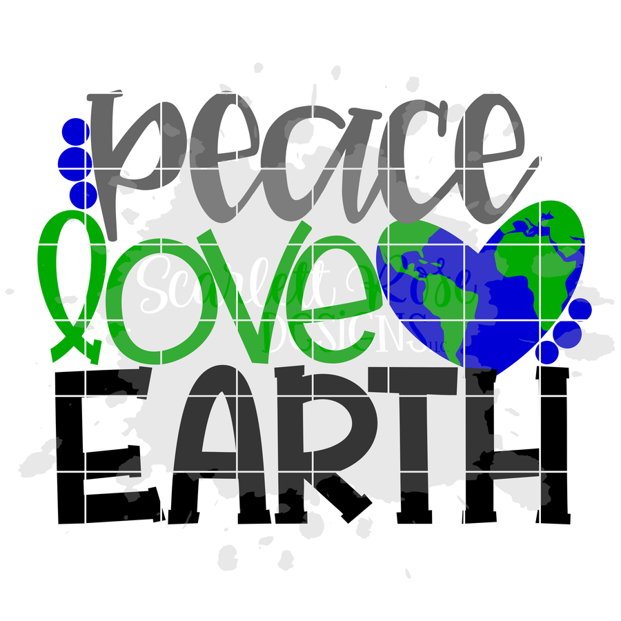 Peace Love Earth SVG