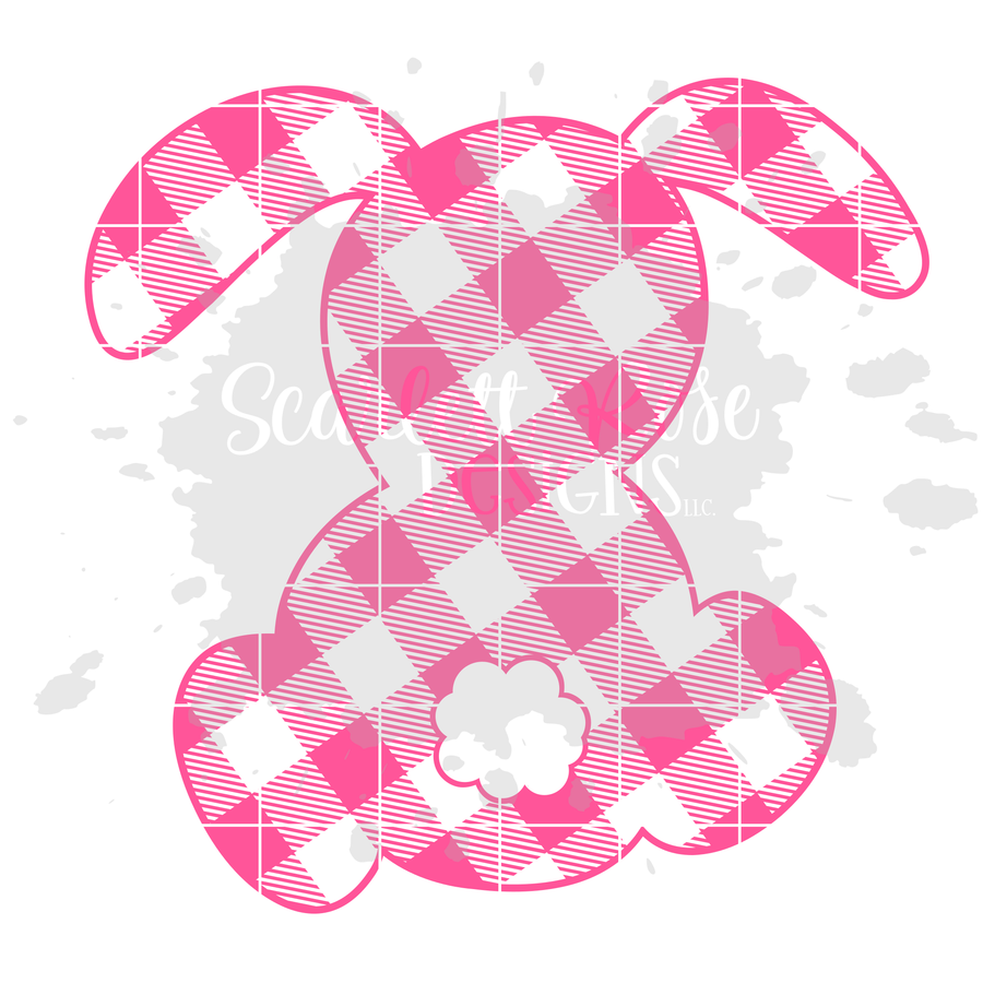 Plaid Bunny - Girl SVG
