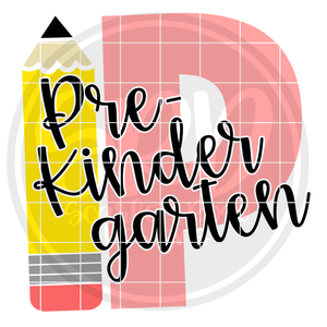 Pre-Kindergarten P SVG - Pencil