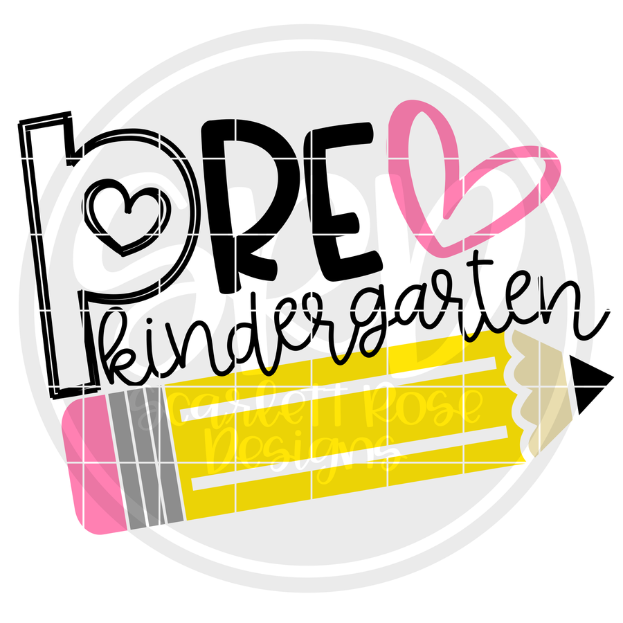 Pre-Kindergarten SVG - Pencil