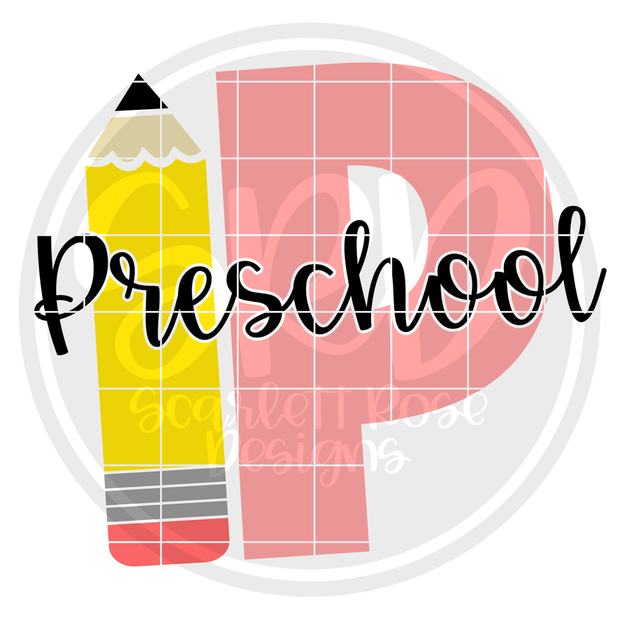 Preschool P SVG - Pencil