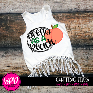Pretty as a Peach SVG - with ring