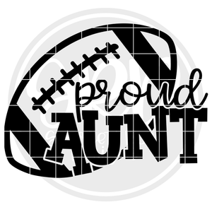 Proud Aunt - Football SVG