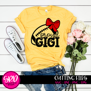 Proud Gigi - Football SVG - Bow