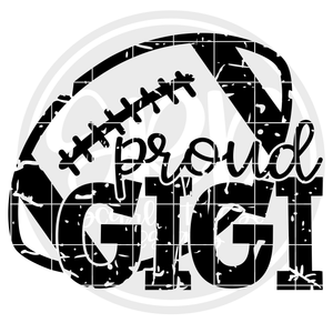 Proud Gigi - Football SVG - Distressed