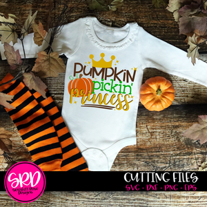 Pumpkin Pickin' Princess SVG