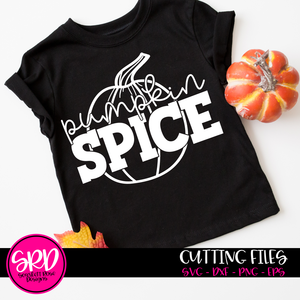 Pumpkin Spice - Black SVG