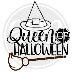 Queen of Halloween SVG - Black