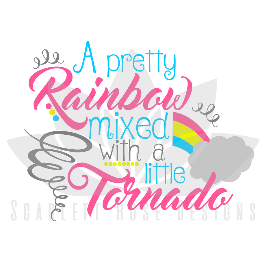 A Pretty Rainbow mixed with a little Tornado SVG