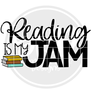 Reading is my Jam SVG