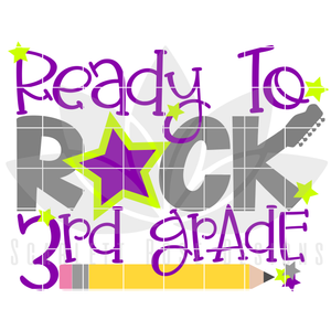 Ready to Rock 3rd Grade SVG