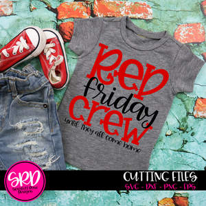 Red Friday Crew SVG