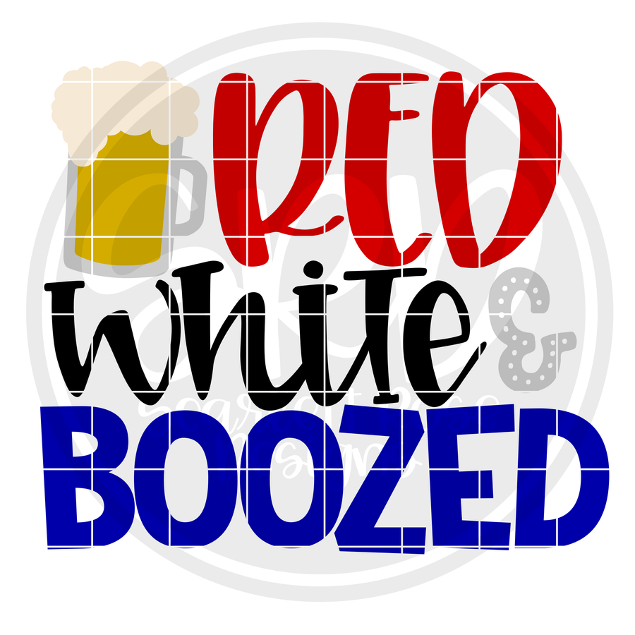 Red White & Boozed SVG
