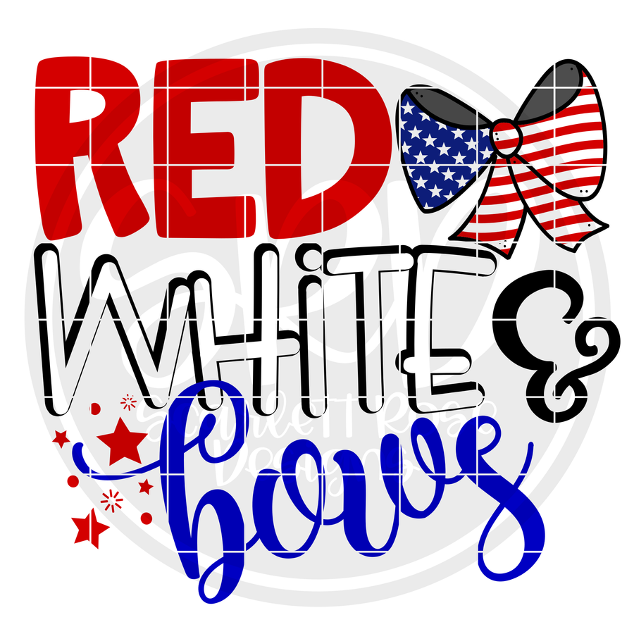 Red White & Bows SVG