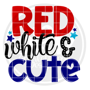 Red White & Cute SVG