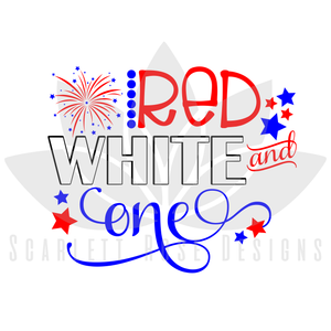 Fourth of July SVG cut file, Red, White and One SVG, EPS, PNG