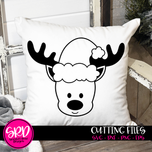 Reindeer Boy 2019 - Black SVG