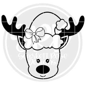 Reindeer Girl 2019 - Black SVG