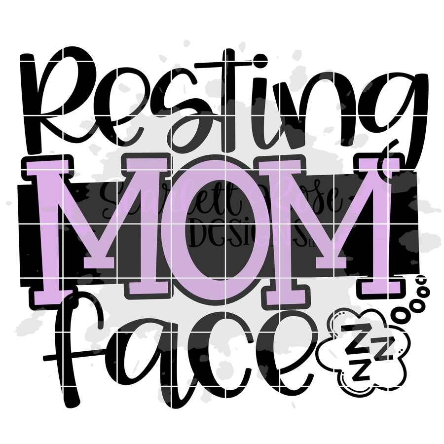Resting Mom Face SVG