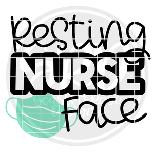 Resting Nurse Face - Mask SVG