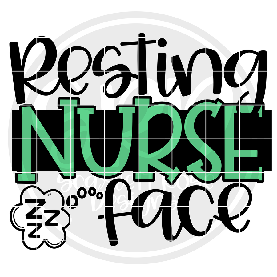 Resting Nurse Face SVG