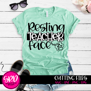 Resting Teacher Face SVG