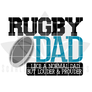 Rugby Dad - Rugby Mom SVG SET