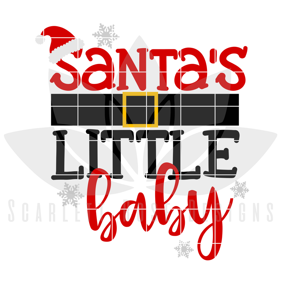 Christmas SVG, DXF, Santa's Little Baby cut file
