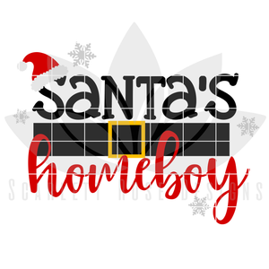 Christmas SVG, DXF, Santa's Homeboy cut file