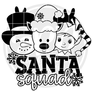 Santa Squad - Boys 2019 - Black SVG