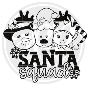 Santa Squad - Girls 2019 - Black SVG