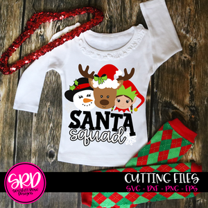 Santa Squad - Girls 2019 SVG